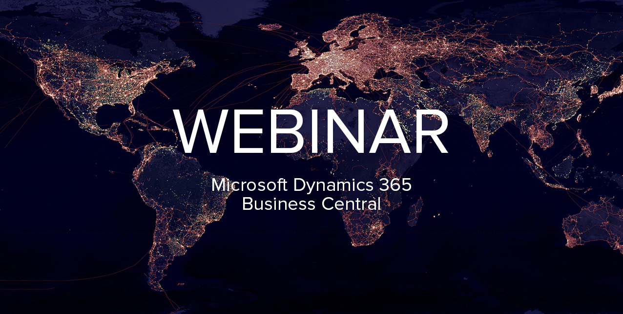 Dynamics 365 Business Central global webinar