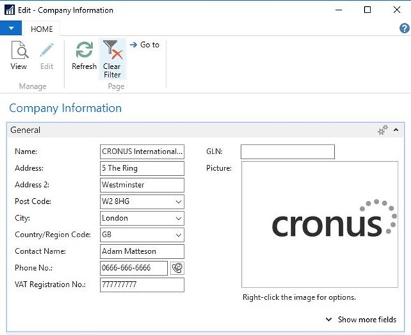cronos demo dynamics nav