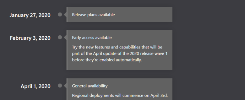 Dynamics 365 and Power Platform 2020 release wave 1